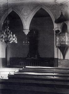 Лютеранская кирха. Интерьер. Вид на алтарь
