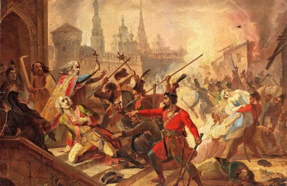 В 1774 году армия Пугачёва захватила Казань