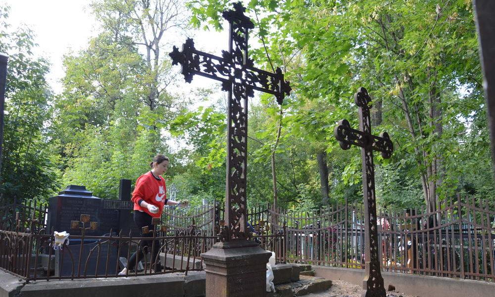 Субботник 25.08.2018 на лютеранско-немецком кладбище